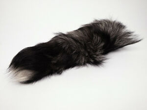 JUMBO Silver Fox Tail Keychains FOR SALE!
