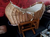 mothercare moses basket with swinging frame