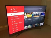 43in Samsung **CURVED** 4k LED Smart HDR TV voice ctrl -wifi- 1500hz - Freeview & Freesat HD