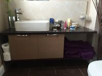 BATHROOM CABINETS AND SINK FOR SALE