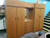 Teak wardrobe set. Delivery available