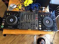 PIONEER DJ DECKS - DJM600 AND 2X CDJ 1000 MK2s