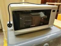 Cookbooks silver digital microwave