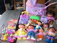 Huge Dora The Explorer Collection- PRAM, INTERACTIVE DOLLS, DVD'S, BOOK, CASTLE, TREE-HOUSE ETC