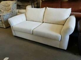 DFS white fabric two seater sofa bed only £60