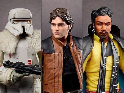 Star Wars Black Series  Range Trooper  64  Han Solo  62  Lando Calrissian  65