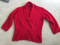 Red Cardigan Size 10-12