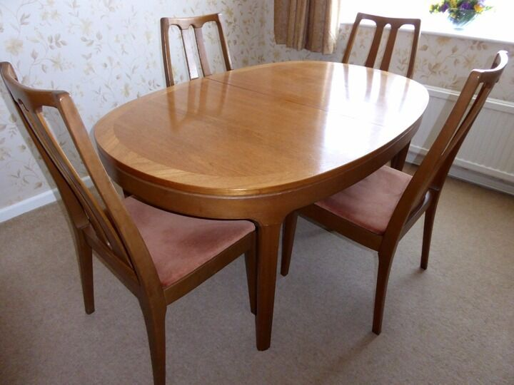 Vintage Nathan Dining Table and four chairs | in Middleton Cheney ...