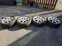 "Honda fitment 17"" alloys with tyres. No kerning or marks"