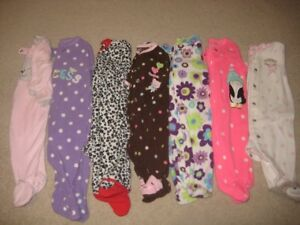 Fleece footed pj's - size 3 months