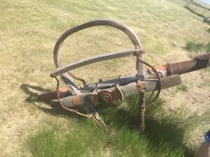 antique front steering wagon axle