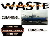 WASTE REMOVAL SERVICE/DUMPING**519-562-0387**