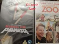 Dvds, New still sealed £1, Garfield Boxset £1 and all others 50p each Thornhill Forres