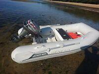 Walker Bay genesis with mariner 9.9 4 stroke engine
