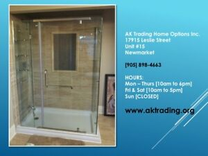 GREAT BIG SHOWER ENCLOSURE W/BASE-FULL BATHTUB REPLACEMENT SIZE!