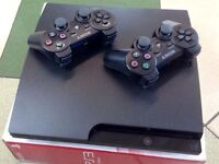 PLAYSTATION 3 Bundle 120gb comes with 2 controllers, 7 games.