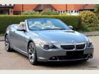 BMW 630i SPORT, AUTOMATIC, CONVERTIBLE, ONLY 1 LADY OWNER FROM NEW, UP UNTIL 2017.