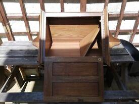 real ercol corner cabinit little ware and tare.
