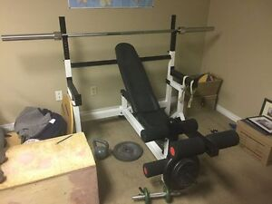 Professional Grade Fitness Equipment - small gym set up