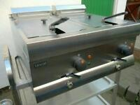 Commercial Electric Lincat Large Double deep fat fryer catering equipment