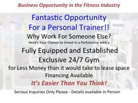 Fantastic Opportunity for Personal Trainer