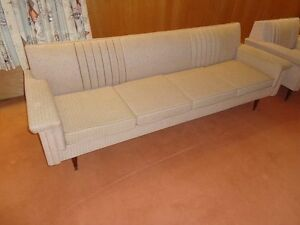 Retro Couch and Chair Set