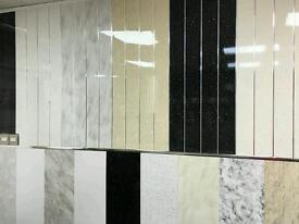PVC Wall cladding splash panels, kitchen and bathroom ceilings. Large range of colour and sizes