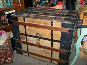 Great Home Decor Treasure ~ Antique M . M. Secor Huge Wall Trunk