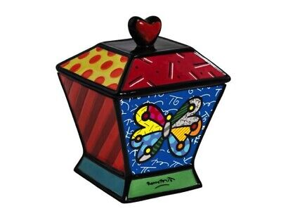 ROMERO BRITTO CANISTER / COOKIE JAR - BUTTERFLY ** NEW **