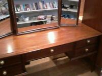 stag dressing table with mirror