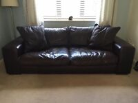 Zenna in Manhattan Mocha 3 seater sofa, single chair and footrest