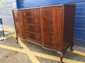 VINTAGE MAHOGANY AND WALNUT SIDEBOARD By BEITHCRAFT - Antique Vintage Retro