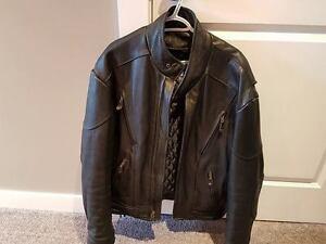 Heavy Leather Biker Jacket ( New / Mint ) RRP $600!