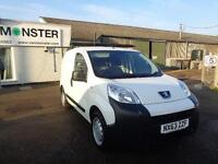 Peugeot Bipper 1.3 Hdi 75 S [Non Start/Stop] DIESEL MANUAL WHITE (2013)