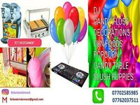 Party entertainers, candy floss, slush machine hire 07702585985