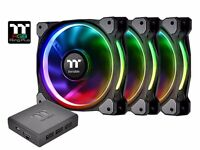 Thermaltake Riing Plus 12cm RGB Fans (3 fans and 1 controller)
