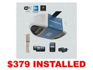Chamberlain 1.25HP Belt Drive Garage Door Opener WiFi *INSTALLED