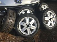 renault megan and scienic alloys and tyres x 5