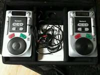 Numark axis 2 CD dj decks DM950 mixer and flight case