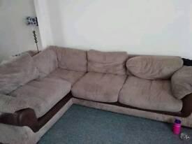 Brown corner sofa for sale reasonable overs