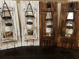 Wall mounted rustic candle holders