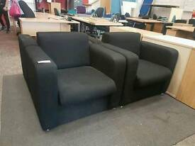 Black office reception room chairs (4 available)
