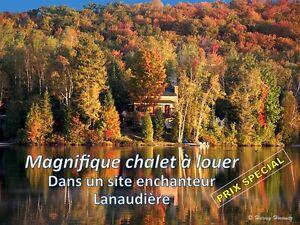 Magnifique chalet à louer dans Lanaudière à 15 minutes de Rawdon