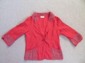 handmade linen blazer (new) size 14