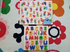 Educational kids wooden puzzles ,in excellent condition.