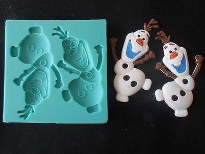 Silicone Mould OLAF FROM FROZEN Sugarcraft Cake Decorating Fondant / fimo mold