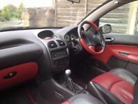 Peugeot 206cc twin top, low miles, sports leather interior. 11 months MOT. 2 lady owners from new