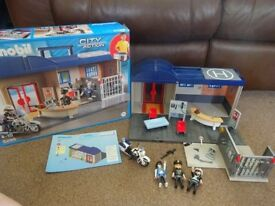 Playmobil Boxed As New Complete with Instructions Playmobil Play Set Police Station Baddie Jail