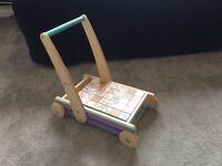 Hamleys wooden baby walker