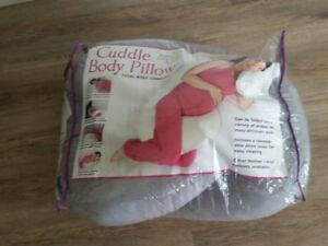Cuddle body pillow used with removable cover used once